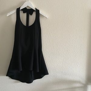 Peplum tank top w/adorable bow detail in back